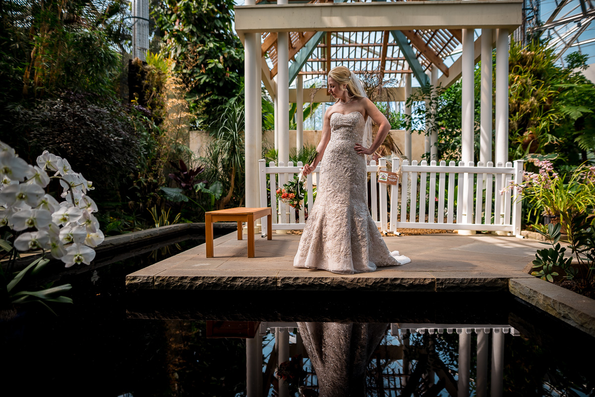 Daniel Stowe botanical gardens bridal photos
