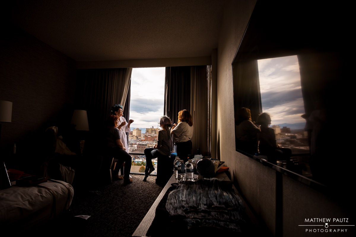 Renaissance Asheville Hotel Wedding Photos | Bride getting ready
