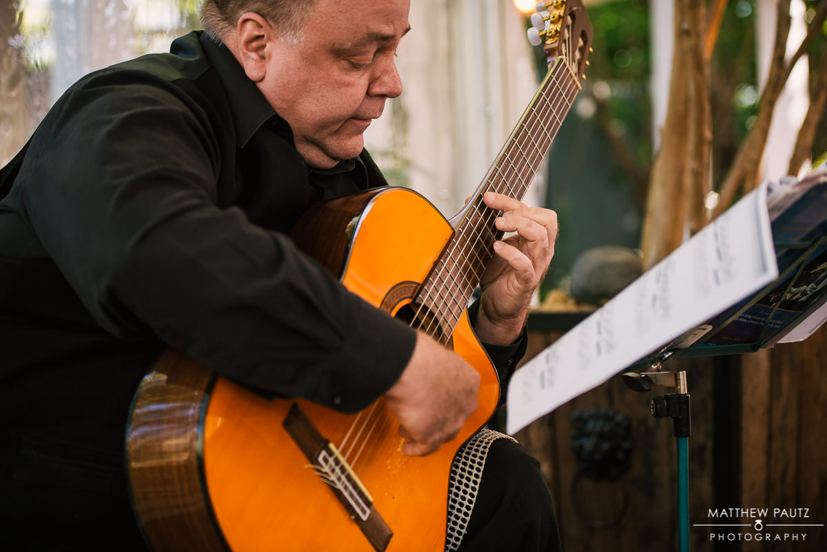 Paul Bowman Guitarist performing at Twigs Tempietto