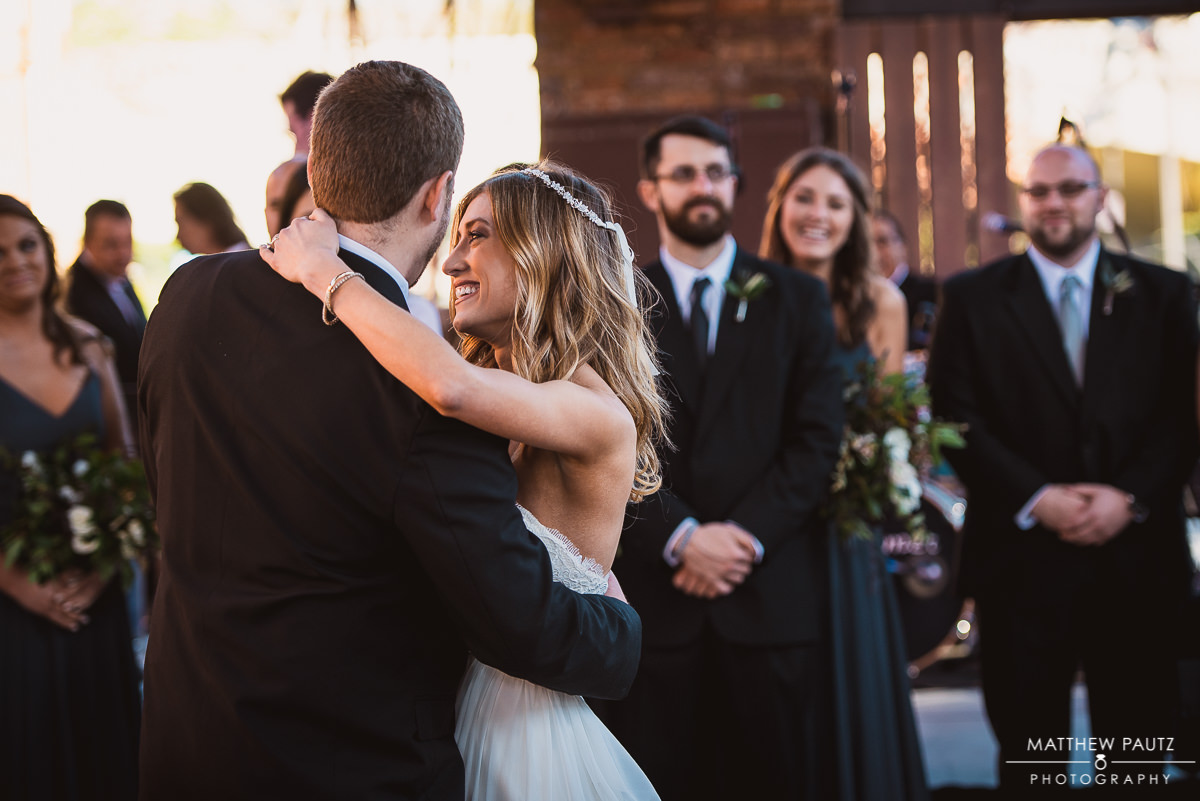 First dance photos at Wyche Pavilion Reception