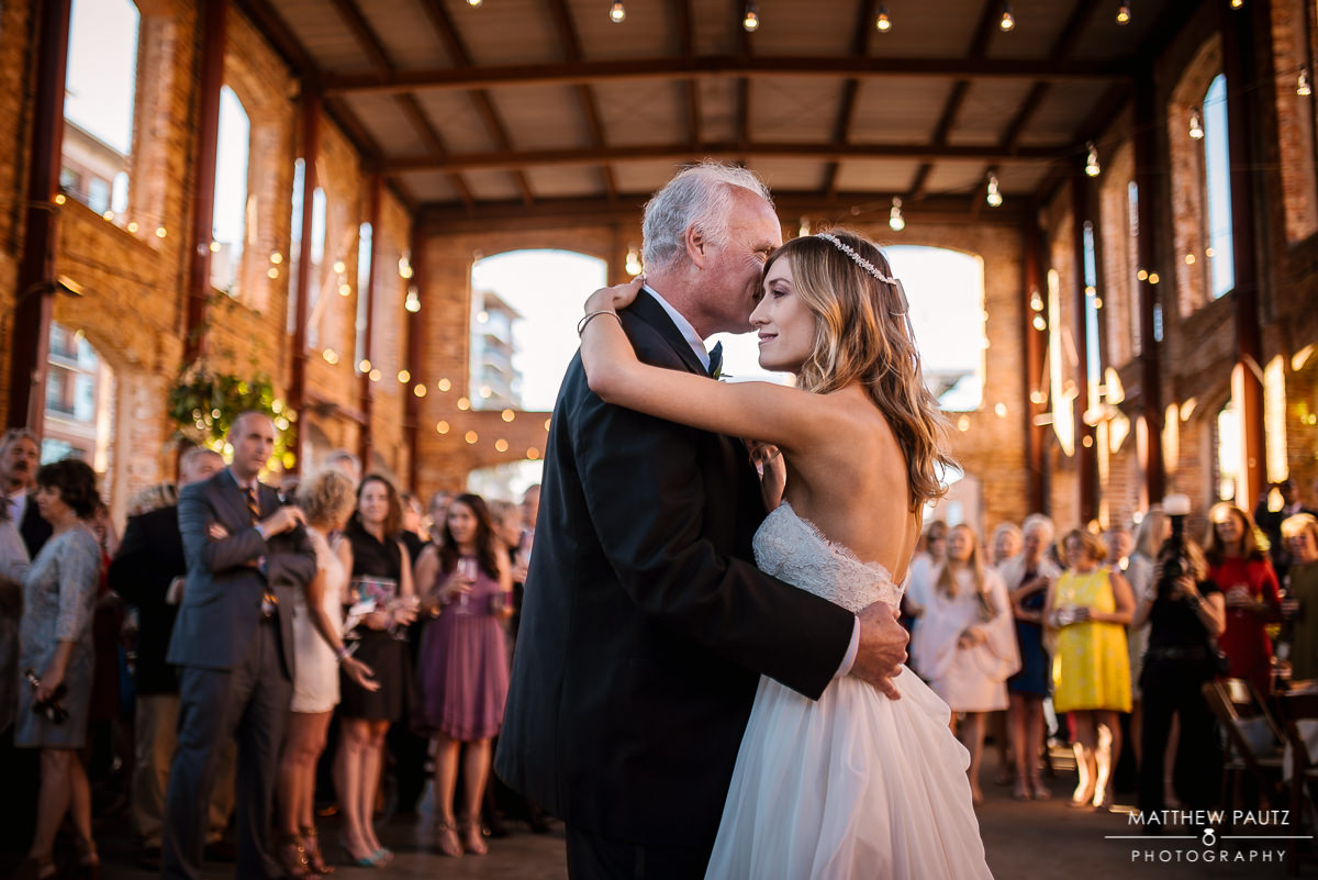 Bride dances with father at Greenville's Wyche Pavilion