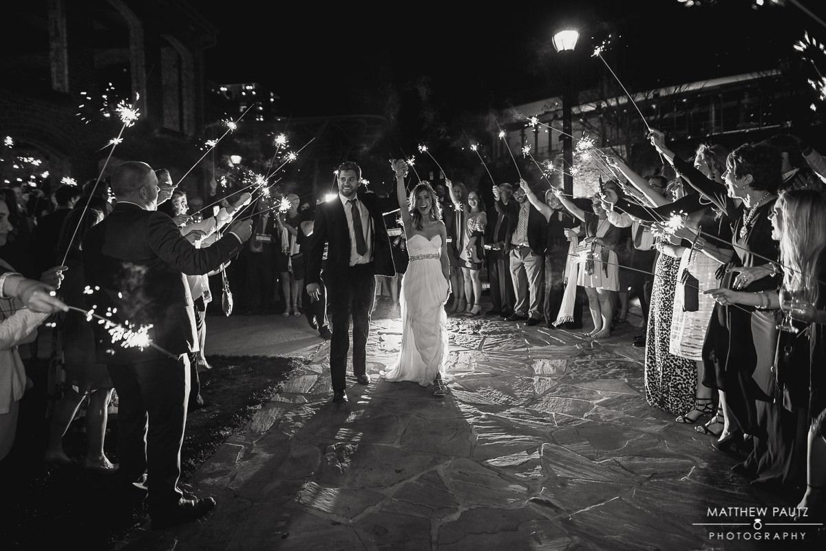 Wyche Pavilion wedding sparkler exit