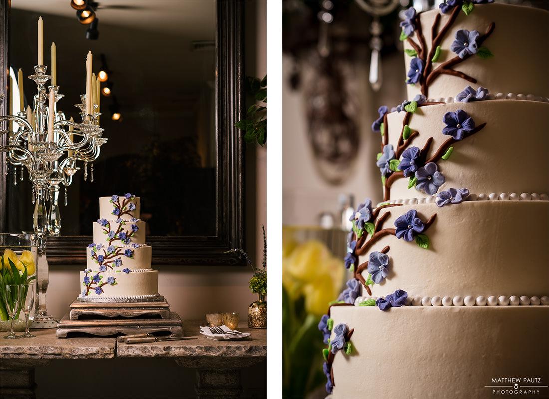 twigs tempietto wedding cake