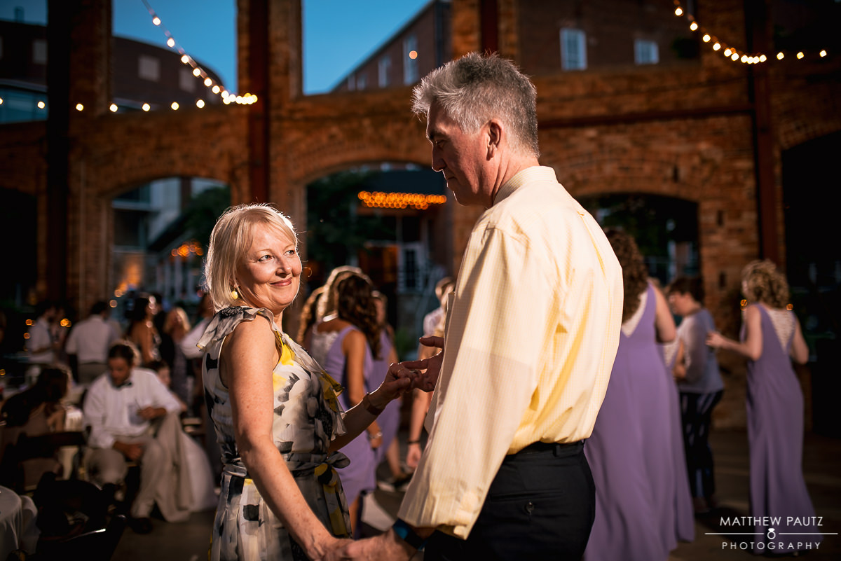 Guests dancing at Wyche Pavilion